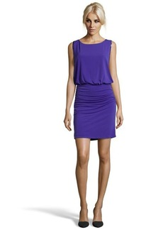 Laundry by Shelli Segal purple beaded and rouched 'Violetta' dress