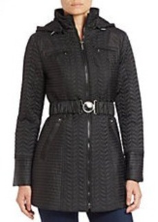 LAUNDRY BY SHELLI SEGAL Quilted Belted Coat