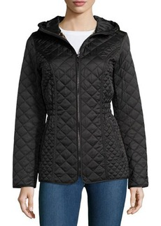 Laundry by Shelli Segal Quilted Cinch-Waist Puffer Coat