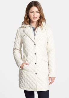 Laundry by Shelli Segal Quilted Coat with Removable Hooded Bib