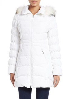 LAUNDRY BY SHELLI SEGAL Quilted Faux Fur-Trimmed Jacket