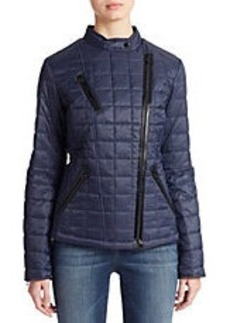 LAUNDRY BY SHELLI SEGAL Quilted Zip Front Jacket