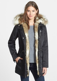 Laundry by Shelli Segal Removable Faux Fur Trim Parka