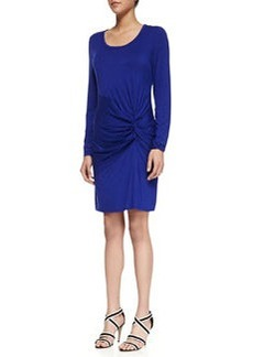 Laundry by Shelli Segal Ruched Front Jersey Dress, Twilight Blue
