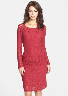 Laundry by Shelli Segal Ruched Lace Body-Con Dress