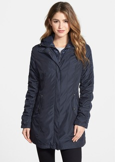 Laundry by Shelli Segal Ruched Sleeve Jacket with Removable Hooded Bib
