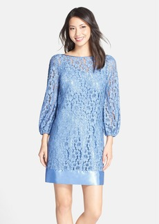 Laundry by Shelli Segal Satin Trim Lace Shift Dress