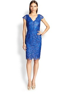 Laundry by Shelli Segal Scalloped Lace Dress