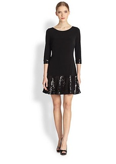 Laundry by Shelli Segal Sequin Flounce Jersey Dress