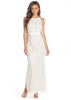 Laundry by Shelli Segal Sequin Mesh Gown