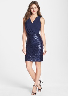 Laundry by Shelli Segal Sequin Skirt Chiffon Dress (Petite)