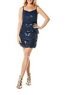 LAUNDRY BY SHELLI SEGAL Sequined Popover Sheath Dress