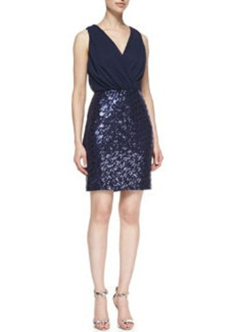 Laundry by Shelli Segal Sequined Skirt Cocktail Dress