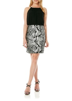 LAUNDRY BY SHELLI SEGAL Sequined Skirt Dress