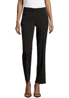 Laundry by Shelli Segal Shadow-Stripe Straight-Leg Pants, Black Multi