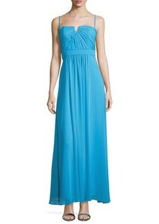 Laundry by Shelli Segal Shirred Bodice Chiffon Gown