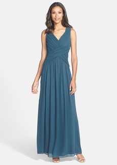 Laundry by Shelli Segal Shirred Chiffon Gown