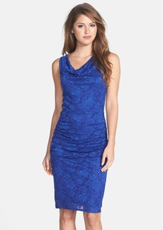 Laundry by Shelli Segal Shirred Lace Sheath Dress