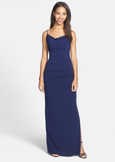 Laundry by Shelli Segal Shirred Matte Jersey Gown