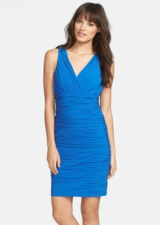 Laundry by Shelli Segal Shirred Surplice Neck Dress