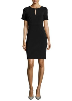 Laundry by Shelli Segal Short-Sleeve Crepe Sheath Dress
