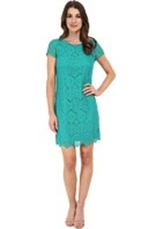 Laundry by Shelli Segal Short Sleeve T-Body Lace Dress