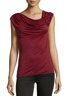 Laundry by Shelli Segal Silk Chiffon Top, Deep Garnet