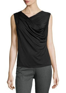 Laundry by Shelli Segal Silky Chiffon Top, Black