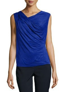 Laundry by Shelli Segal Silky Chiffon Top, Blue Beret