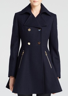Laundry by Shelli Segal Skirted Wool Coat