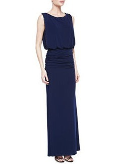 Laundry by Shelli Segal Sleeveless Beaded Blouson Gown, Midnight Blue