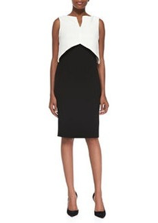 Laundry by Shelli Segal Sleeveless Colorblock Popover Sheath Dress