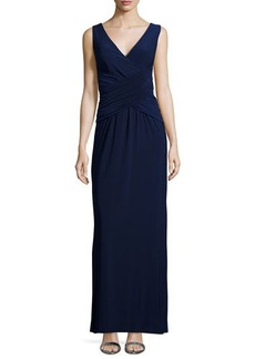 Laundry by Shelli Segal Sleeveless Crisscross Gown