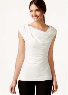 Laundry by Shelli Segal Sleeveless Drape-Neck Top