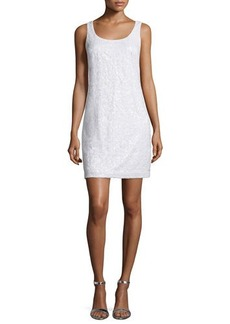 Laundry by Shelli Segal Sleeveless Embellished Novelty Dress
