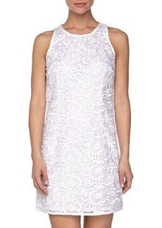 Laundry by Shelli Segal Sleeveless Eyelet Shift Dress, Optic White