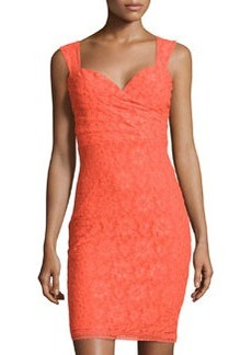 Laundry by Shelli Segal Sleeveless Floral-Lace Dress, Mandarin Red