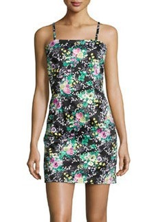 Laundry by Shelli Segal Sleeveless Floral-Print Dress, Shocking Pink