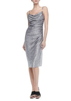 Laundry by Shelli Segal Sleeveless Foil-Knit Cocktail Dress