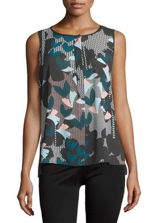 Laundry by Shelli Segal Sleeveless Graphic Floral-Print Top