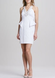 Laundry by Shelli Segal Sleeveless Jacquard Necklace Dress