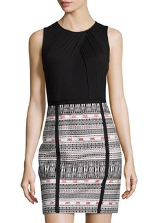 Laundry by Shelli Segal Sleeveless Jacquard Sheath Dress