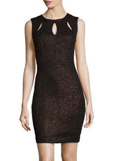 Laundry by Shelli Segal Sleeveless Laser-Cut Dress, Black
