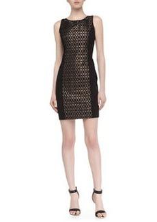 Laundry by Shelli Segal Sleeveless Metallic Jacquard Dress, Black Multi