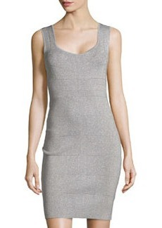 Laundry by Shelli Segal Sleeveless Metallic Knit Dress, Chrome