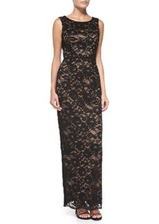 Laundry by Shelli Segal Sleeveless Open-Back Lace Gown