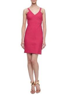 Laundry by Shelli Segal Sleeveless Pleated Bodice Travel Dress, Paradise Pink