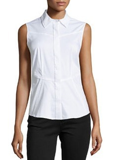 Laundry by Shelli Segal Sleeveless Poplin Blouse, Optic White