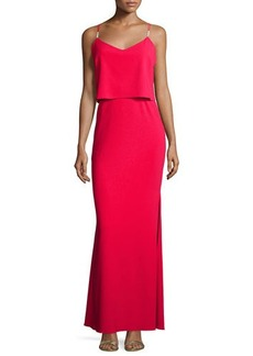 Laundry by Shelli Segal Sleeveless Popover Gown