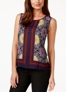 Laundry by Shelli Segal Sleeveless Print-Front Top